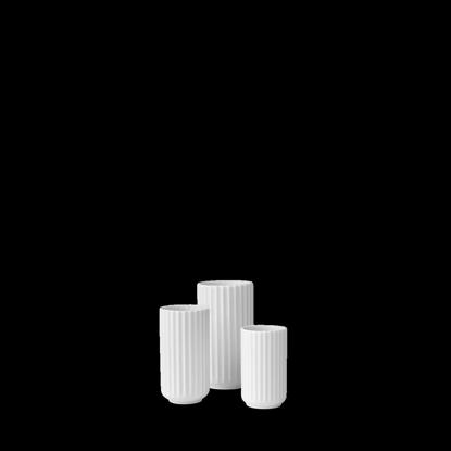 Billede af Lyngby Vase 8cm, glossy white