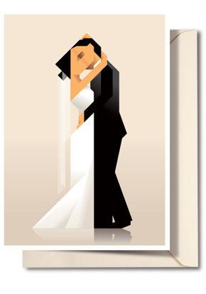 Billede af Bryllupskort med konvolut, A5