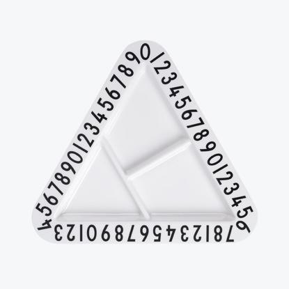 Billede af Melamine triangular snackplate