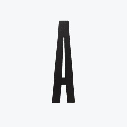 Billede af BLACK wooden letters -A