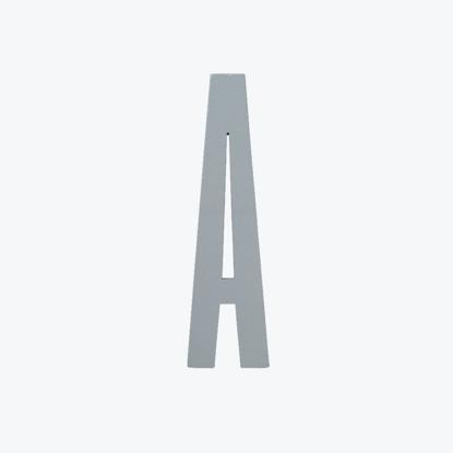 Billede af GREY wooden letters -A