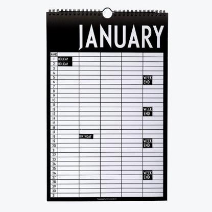Billede af Monthly planner
