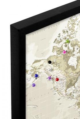 Billede af Pin Board - World Map - Vintage