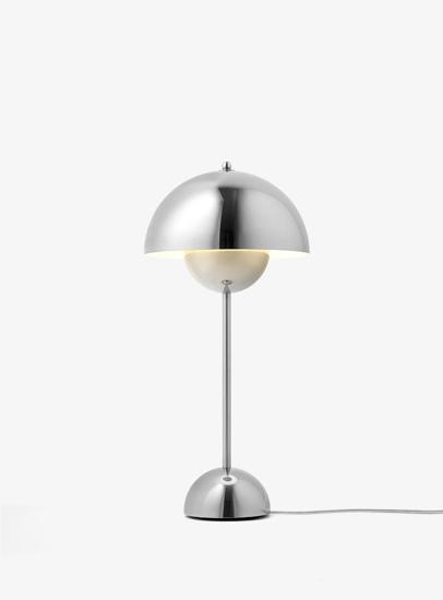 Billede af Flowerpot Table Lamp - VP3 - Polished Stainless