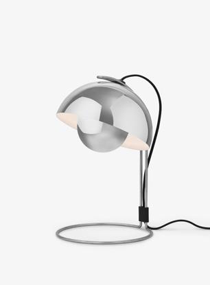 Billede af Flowerpot Table Lamp - VP4 - Polished Stainless Steel