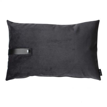 Billede af Velvet cushion dark grey 60x40
