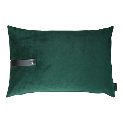 Billede af Velvet cushion dark green 60x40