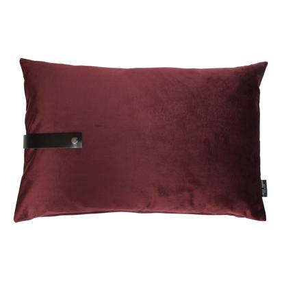 Billede af Velvet cushion bordeaux 60x40