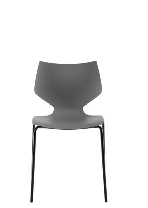 Billede af Mylie spisestol grå/sort