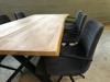 Billede af Claes spisebordssæt med 6 stk Ventus Down stole i mørk grå stof