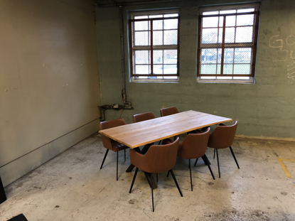 Billede af Claes spisebordssæt med 6 stk Ventus Griffin stole i cognac PU læder