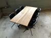 Billede af Claes spisebordssæt med 6 stk Ventus Rondo stole i sort PU læder
