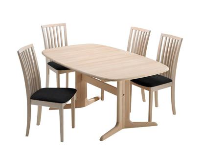 Billede af Skovby spisebord og 4 stole