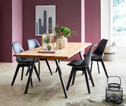 Billede af Blokhus bord og 4 Mille stole