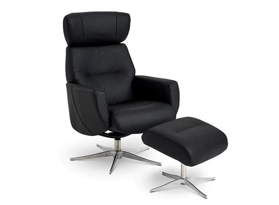 Billede af Global Comfort Stockholm lænestol med fodskammel