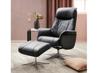 Billede af Global Comfort Prag lænestol med fodskammel