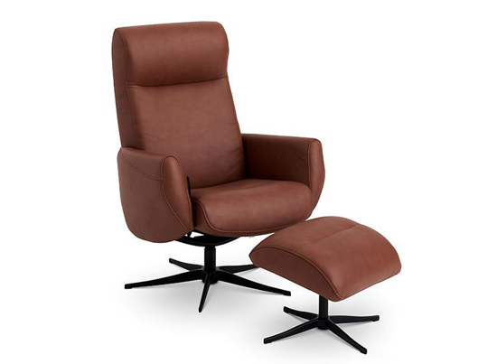 Billede af Global Comfort New York lænestol med fodskammel