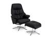 Billede af Global Comfort Asti lænestol med fodskammel Soleda/spalt