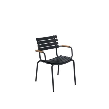 Billede af CLIPS, Spisebordsstol med bambus armlæn