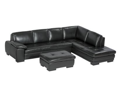 Billede af Kuka 0625 Open-end sofa sort semi aniline læder