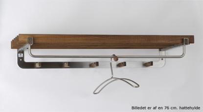 Billede af Nordline Hattehylde, Eg, rustfrit stål