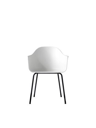 Billede af Harbour Chair, White/Black Steel Base