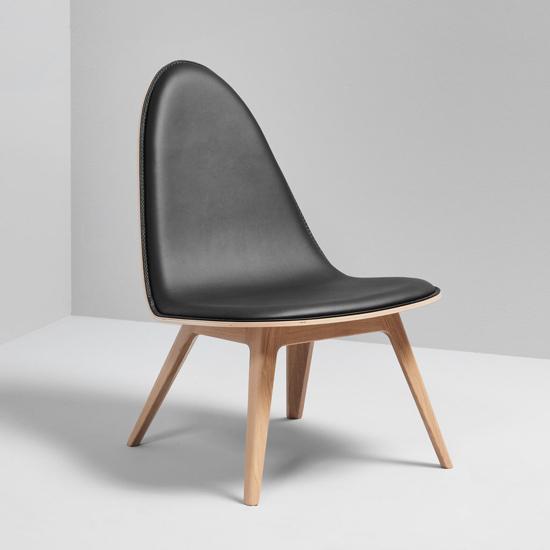 Billede af Nordic Lounge Stol - Eg med sting