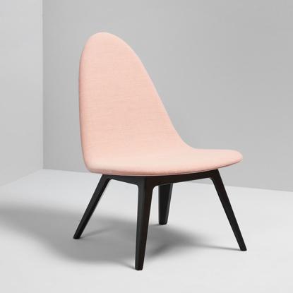 Billede af Nordic Lounge Stol - Sortbejdset bøg