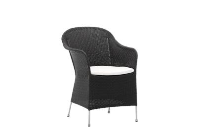 Billede af Athene stol med hynde i B450 hvid
