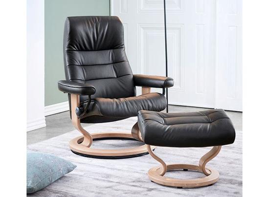 Billede af Stressless Opal lænestol med Classic stel, L