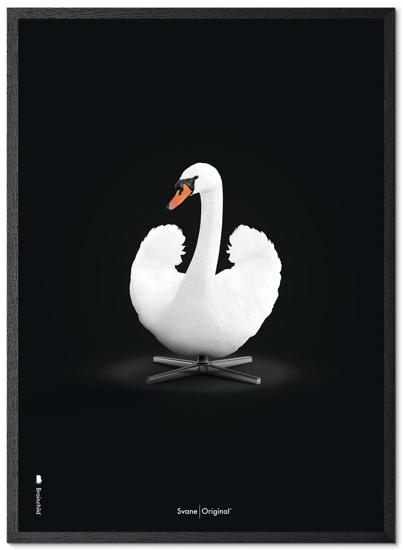 Billede af Brainchild Hvid Svane plakat, 30x40