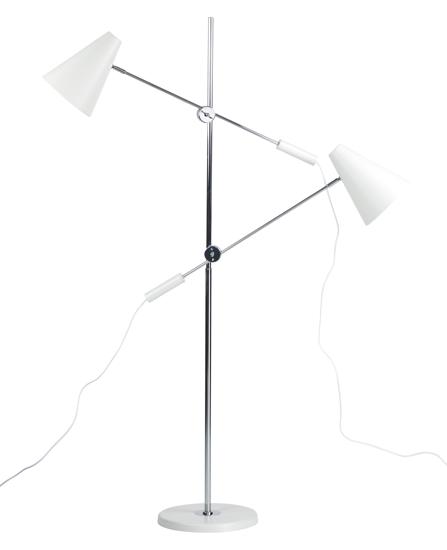 Billede af Standerlampe med 2 lamper, hvid
