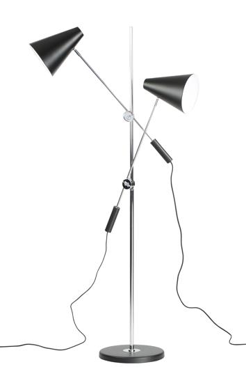 Billede af Standerlampe med 2 lamper, sort
