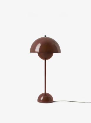 Billede af Flowerpot Table Lamp - VP3 - Red Brown