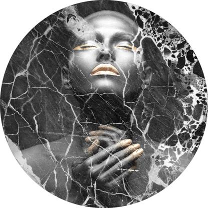 Billede af Circle Art, Black Marble Lady