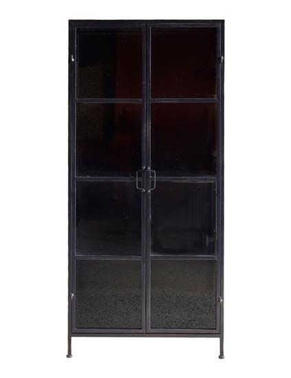 Billede af Vitrineskab i jern med glaslåger