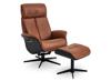 Billede af Global Comfort Ventura lænestol med fodskammel