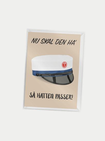 Billede af Nu skal den ha' så hatten passer (blå hue), A7