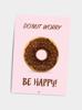 Billede af Do'nut worry, be happy!, A5 Kort