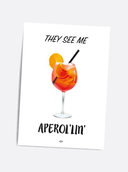 Billede af They see me aperollin, A5 Kort
