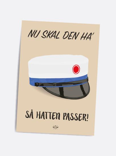 Billede af Så hatten passer (blå hue), A5 Kort