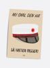 Billede af Så hatten passer (rød hue), A5 Kort