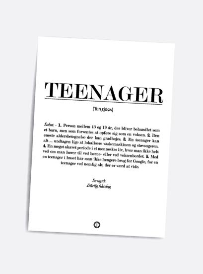 Billede af Teenager (definition), A5 kort