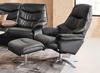 Billede af Global Comfort Asti lænestol med fodskammel Soleda/skai