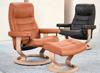 Billede af Stressless Opal lænestol og fodskammel med Classic stel, M