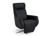 Billede af Global Comfort Sidney sort lænestol med indbygget fodskammel