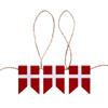 Billede af Peters Jul - Gaveæske med flagguirlande
