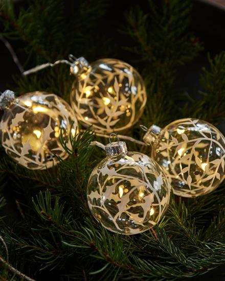 Billede af Eva juletræskugler, 4 stk