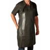 Billede af Læder forklæde med lomme, sort