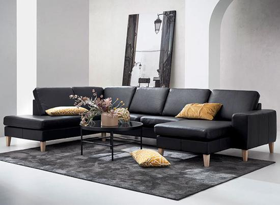 Billede af Visby sofa med open end og chaiselong